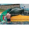 China Water Park Equipment Crocodile Slide , Commercial Small Fiberglass Water Slide wholesale
