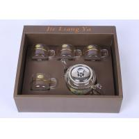 China High Grade Glass Tea Infuser Teapot With Warmer And 4 Cups 21oz / 600ml Pot Capacity on sale