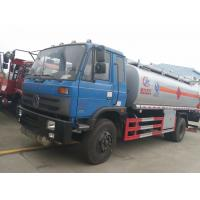 China Dongfeng 153 4*2 14.5cbm aluminum alloy fuel tank truck/fuel refueling tanker truck, hot sale 15m3 oil dispensing truck wholesale