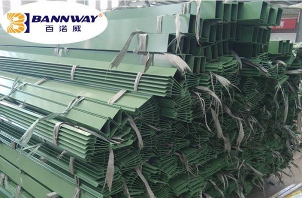 Quality Louver Blades Aluminum Window Profile 1.4mm Powder Coating Green Color for sale