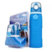 China Wholesale Promotion Gifts Collapsible BPA free silicone water bottle wholesale