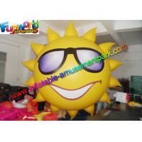 China Sun Inflatable Advertising Model , Yellow Inflatable Helium Balloon For Festival on sale
