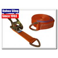 China D Ring Polyester Webbing Ratchet Tie Down Straps Load Binder Double J Hook wholesale