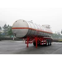 Stainless Steel Gas Tanker Truck Trailer For 39500L Propylene Oxide delivery