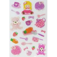 China Kawaii Girl Toy Japanese Puffy Stickers For Kids ODM OEM / ODM Available wholesale