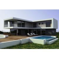 Steel Structural Small Prefab Homes Prefabricated Villa / Modern Simple Style Villa