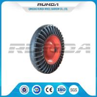 China 16 Inch Solid Rubber Wheels Black Tyre Color Steel Rim 150kg Loading For Tractor wholesale