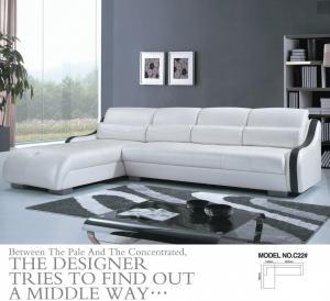 China C22;  modern genuine leather sofa, modern home furniture,office furniture, living room furniture, China sofa wholesale