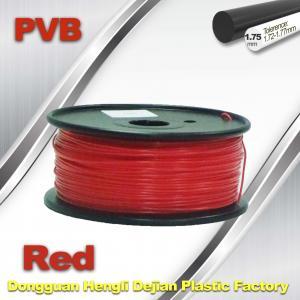 China Red PVB 3D Printer Filament 1.75mm / 3d Printer Consumables 0.5KG / Roll wholesale