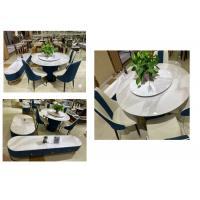 China Elegant Coffee Table And Chairs Good Rigidity With Faux Marble Surface wholesale