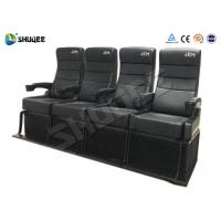 China Safety 4D Movie Theater With Pure Hand - Wrapped PU Leather Motion Seats wholesale