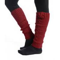 China Pretty Red Knitted Leg Warmer , Winter Arylic / Spandex Knit Leg Warmers on sale