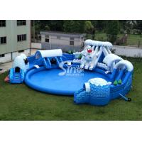 Buy cheap Snow N Ice World Giant Inflatable Water Park On Land With Big Inflatable Pool from wholesalers