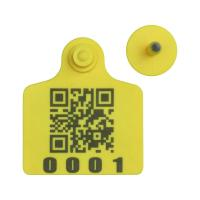 China RFID cattle ear tag,UHF ear tag,barcode ear tag,cow ear tag,laser printing ear tag,80*70mm,plastic TPU,easy to tracking on sale