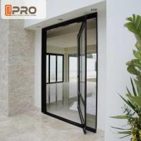 China Unique Villa Front Glass Entry Doors / Single Pivot Patio Doors on sale