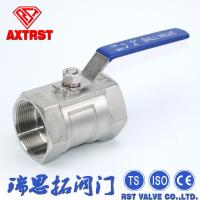 China 1 Piece Stainless Steel Ball Valve  Female Threaded End With Lock Device wholesale