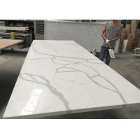 China Gray And White Quartz Tile Countertop Kitchen Cabinet Top Customised Size wholesale