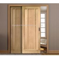 China Interior Oak Wooden Sliding Doors Painted Surface Maximum Height 2350mm Large Size wholesale