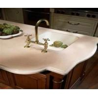 China customized MATT Chinese Smooth environmental Pure Acrylic solid surface Kitchen countertop wholesale
