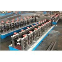 China 3 Ton Passive Decoiler Automatic Door Frame Roll Forming Machine with Hydraulic Punching on sale