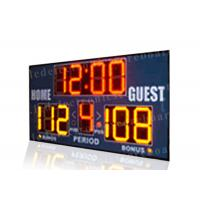 China Easy Installation Basketball Portable Scoreboard , Basketball Score Clock With Brackets wholesale