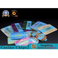China Marble Acrylic Crystal European Casino Poker Chips / Wear Resistance Casino Jetons wholesale