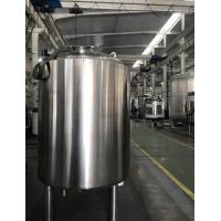 China Single Layer Stainless Steel Storage Tank , Temporary Storage Tanks For Juice / Beverage on sale