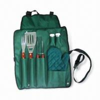 China Barbeque Set with Spatula, Fork and Tongs, Suitable for Promotional Purposes wholesale