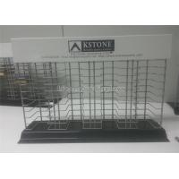 China Metal Wire House Decoration Stone Display Rack Countertop For Material Merchandising wholesale
