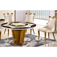 China 8 persons round marble table with Lazy Susan dining room furniture wholesale