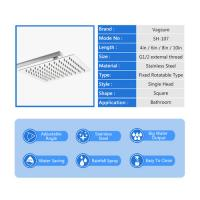 China Mirror Effect Square Rain Shower Head , 360 Degree Rotation Waterfall Shower Head on sale