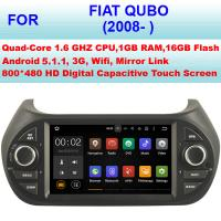 Buy cheap Multi Language 2008+ Fiat Qubo Vehicle DVD Player , Fiat GPS System Car Stereo Sat Nav from wholesalers
