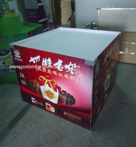 China Exhibición del Dumpbin de la cartulina del POP/de la posición que sostiene 50kg para el vino tinto, licor wholesale