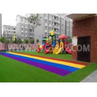 China Kids Playing Putting Coloured Sports Artificial Grass With Shock Pad Grassland wholesale
