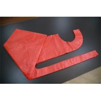 China Single Use Red Disposable PE Apron , Polythene Disposable Paint Aprons For Adult on sale