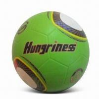 China Soccer Ball, Made of Rubber, Size of #5, Customized Logos are Accepted wholesale