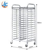 China 15X2 Trays Commercial Stainless Steel Trolley Rack / Commercial Baking Tray Rack wholesale