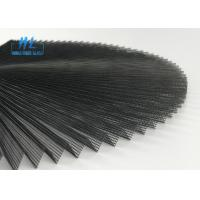 China Grey 15mm Pleated Height 2.5m*25m Wide Polyester Material Plisse Insect Screen wholesale
