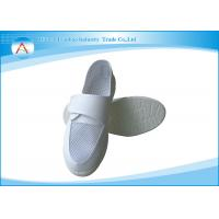 China Clean Room White ESD Work Shoes With Conductive Fiber in Painting Industry on sale