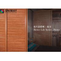 China Solid Particle Board Wardrobe Sliding Door Aluminum Profile MDF Panel on sale