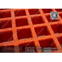 China 38mm depth RED color Fiberglass Molded  Grating (ABS certificated) | China FRP Grating Supplier wholesale