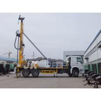 China 350m Drilling Depth Borehole Well Water Drilling Equipment , Truck Mounted Well Digging Machine wholesale