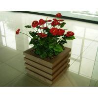 China wood plastic outdoor planter OLDA-7001 520mm*520mm*526mm wholesale