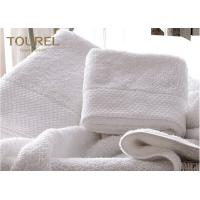 Buy cheap Machine Washable Pure White Hotel Towel Set  Quick dry 100% Cotton from wholesalers