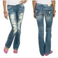 China Extreme Destroyed Bootcut Jean for women   wholesale