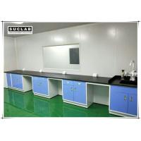 China Steel Lab Wall Bench With Corrosion Resistant Worktop In Pharmaceutical Company wholesale