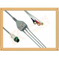 China Mindray ECG Patient Cable 12 Pin For T5 and T8 3 Leads Snap AHA wholesale