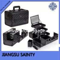 Black diamond ABS aluminum makeup train cases