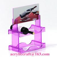 China New style custom colorful PMMA wine rack China acrylic wine holder for retail on sale