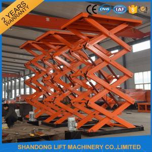 China Adjustable Hydraulic Stationary Warehouse Mechanical Scissor Lift , Hydraulic Scissor Lift wholesale